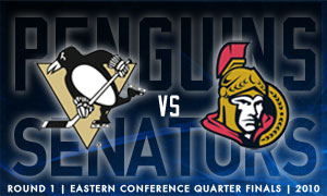 Penguins Lead Sens 2-1 in Series