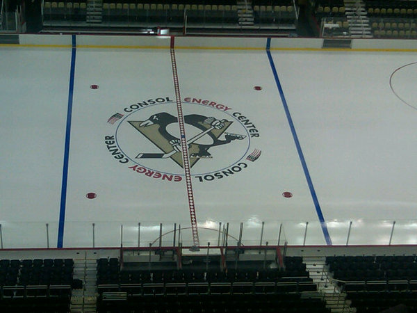Center Ice at the Consol Energy Center…