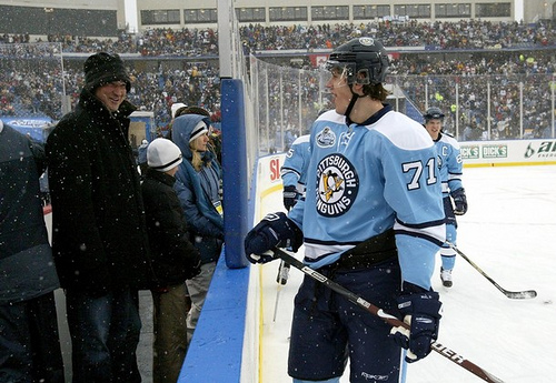 Mario Laces Em' Up For Winter Classic Alumni Game…